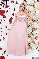 Вечернее шифоновое платье в пол больших размеров 50 52 54