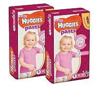 Подгузники-трусики Huggies Pants для девочек 5 (12-17 кг), 68 шт. (34штх2)