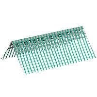 Кутник перфорований ПВХ з зеленою сіткою 6х6см, 3м