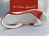 Класичні шкіряні босоніжки на платформі Terra Grande, фото 2