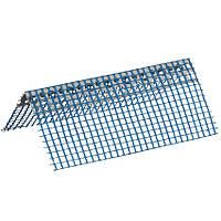 Кутник перфорований ПВХ з синьою сіткою 7х7см, 3м
