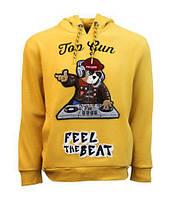 Оригинальная толстовка Top Gun DJ Bear Hoodie TGD1906 (Mustard), фото 1