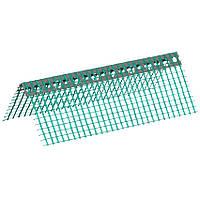 Кутник перфорований ПВХ з зеленою сіткою 6х6см, 2,5м