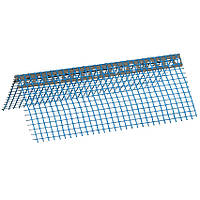 Кутник перфорований ПВХ з синьою сіткою 7х7см, 2,5м