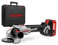 Акумуляторна кутова шліфмашина Crown CT23001-115HX-4 BMC