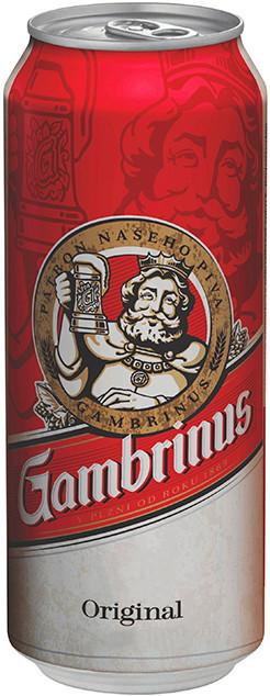 Пиво Gambrinus светлое фильтрованное 4.3% 0.5 л