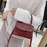 """Женская классическая сумочка на ремешке """"Крокодил""""  XS9203/17 красная, фото 8"""