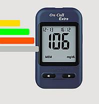 Глюкометр On Call Extra (Онкол Экстра)+60 тест-полосок, фото 2