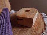 Підсвічники з дерева ручної роботи матеріал Липа, фото 3