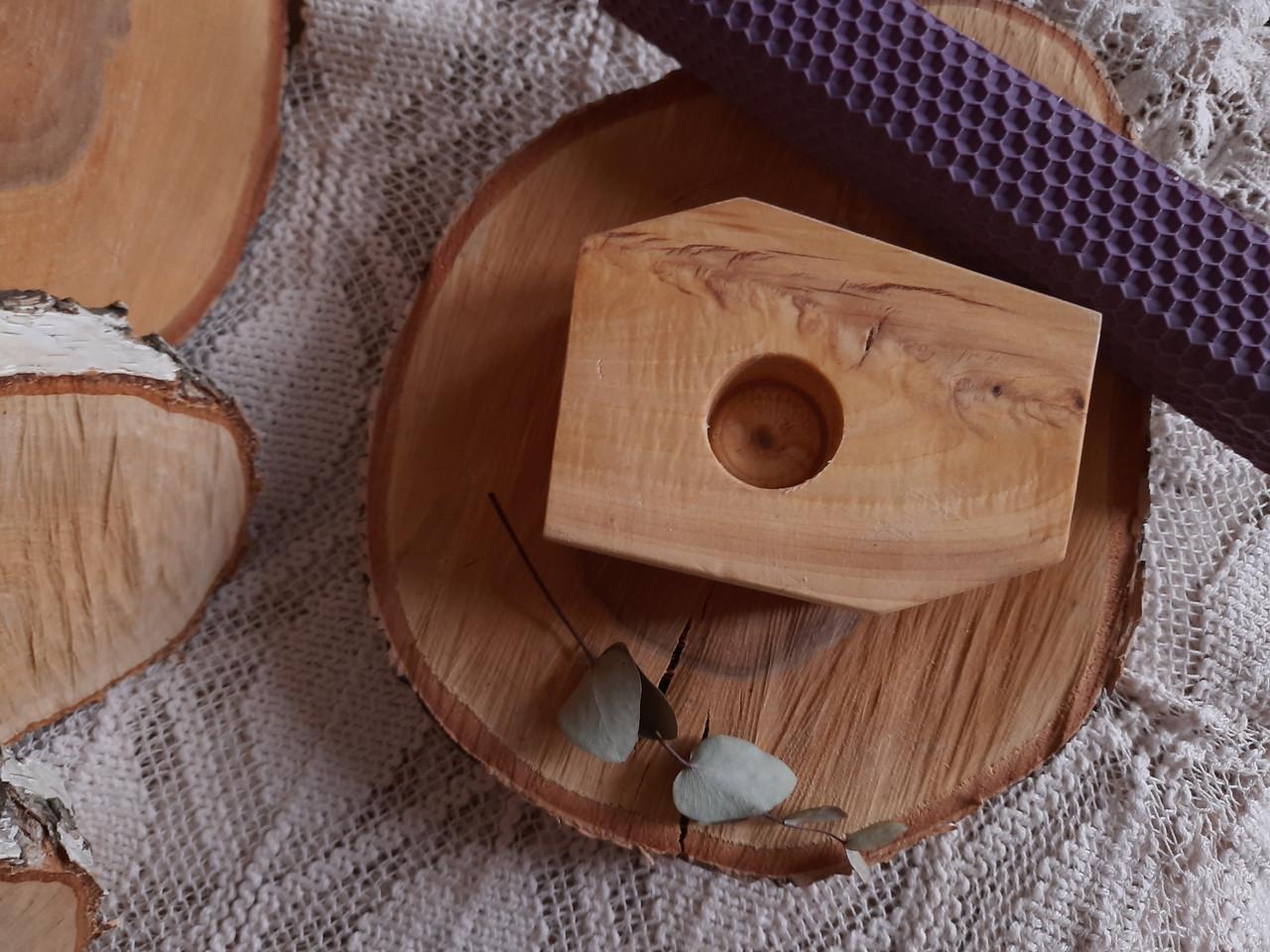 Підсвічники з дерева ручної роботи матеріал Липа