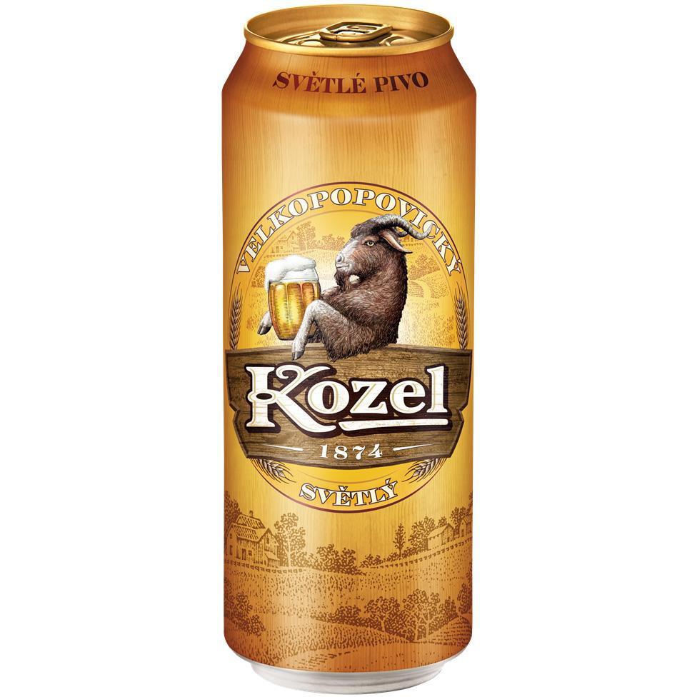 Пиво Velkopopovicky Kozel Premium светлое фильтрованное 4.6% 0.5л.
