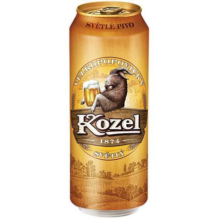 Пиво Velkopopovicky Kozel Premium светлое фильтрованное 4.6% 0.5л., фото 2