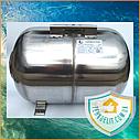 Гидроаккумулятор из нержавейки 50 литров горизонтальный GIDROTEH PTH50SS с нержавеющим фланцем, фото 2