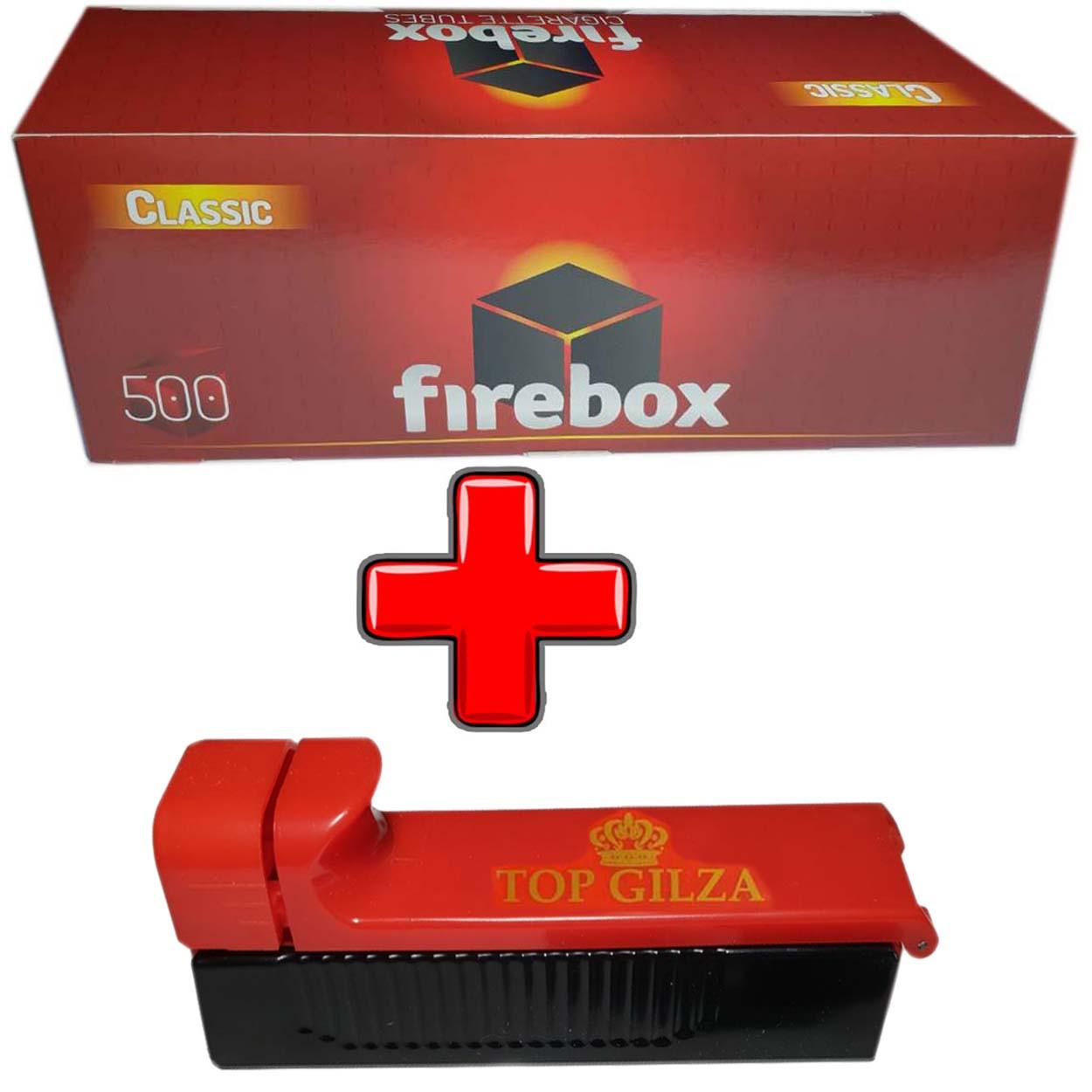 Гильзы для сигарет Firebox 500 шт + фирменная машинка для набивки гильз
