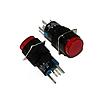 Кнопка трубкою на три контакту не фіксується червона 3А 220V GAV 366R