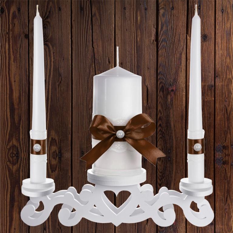 """Набор садебных свечей """"Семейный очаг"""" коричневый цвет, арт. CAND-24"""