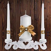"""Набор садебных свечей """"Семейный очаг"""" золотистый цвет, арт. CAND-27"""
