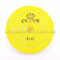 Круг муслиновый CROWN 150 мм 6х60 желтый
