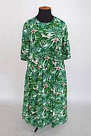 Летнее платье в стиле бохо БОХО темно-зеленое 56,58,60,62