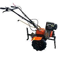"""Мотоблок дизельний 6,5 л. с. колеса 10"""" Forte 1050 помаранчевий (81299)"""