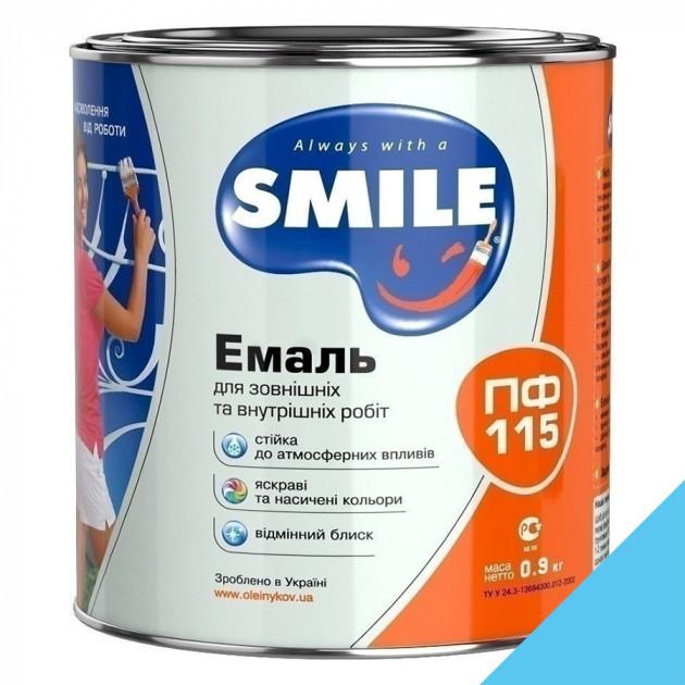 Фарба Smile ПФ-115 світло-голуба 0,9кг