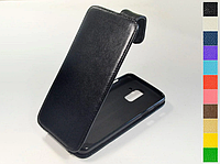 Откидной чехол из натуральной кожи для Samsung Galaxy A6 Plus 2018 A605F