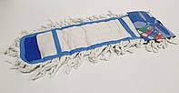 Моп (сменная насадка) для плоской швабры LUX 39*9.5, хлопок синяя