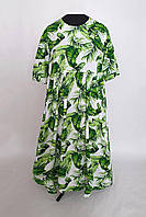 Летнее платье в стиле бохо БОХО зеленое 56,58,60,62