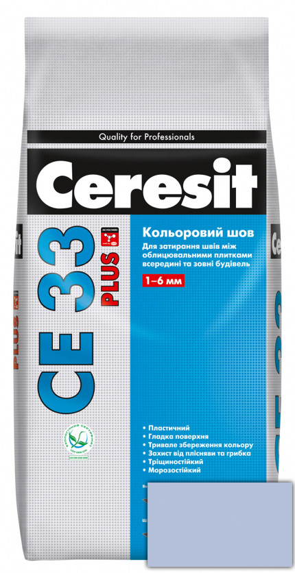 Фуга Ceresit CE 33 Plus 180 Світло-блакитний 2кг