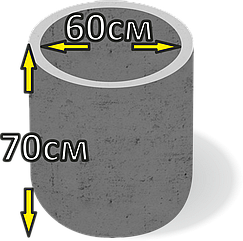 Кільце колодязьне бетонне d60см