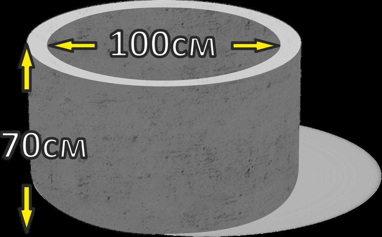 Кільце колодязьне бетонне d100см