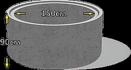 Кільце колодязьне бетонне КС15,9 d150см