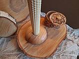 Підсвічники з дерева ручної роботи матеріал Дуб, фото 4