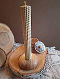 Підсвічники з дерева ручної роботи матеріал Дуб, фото 3