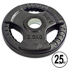 Млинці (диски) обгумовані з потрійним хватом і металевою втулкою d-TA 52мм-8122- 2,5 2,5 кг (чорний)