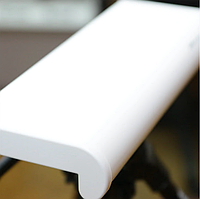 Подоконник GoodWin (Украина), 550 мм, с заглушками, белый матовый