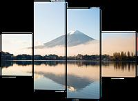 Модульная картина Вид на гору Фудзи Яма 126*93 см Код: W525M