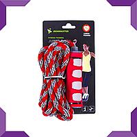 Скакалка IronMaster, плетеный канат,красный