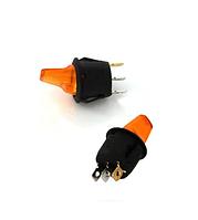 Кнопка круглая тумблером на три контакта с подсветкой желтая GAV 364Y