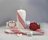 """Набір свічок """"Сімейне вогнище"""" кармін кольору, арт. НЖКк"""