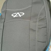 Чехлы на сиденья Chery QQ hatchback 2008- задняя спинка закрытый тыл и сид. 2/3 1/3; 2 подголовника