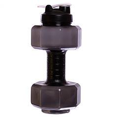 Бутылка для воды спортивная Zelart BIG DUMBBELL 2200 мл FI-7154 (FI-7155) (PE, цвета в ассортименте)
