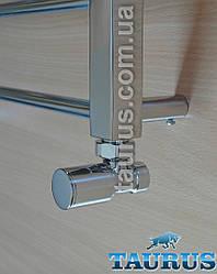 """Краны угловые цилиндрические TAURUS Classic chrome 1/2"""" для полотенцесушителей. В комплекте с американками."""