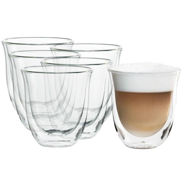 Термостаканы для кофе DeLonghi Espresso 190 мл. с двойными стенками (6 шт.)