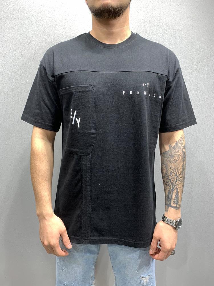 Мужская футболка оверсайз 2Y Premium 6016 black