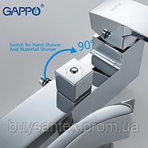 Душова система виливши є перемикачем на лійку хром Gappo Jacob G2407, фото 3