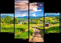 Модульная картина Дорога в деревню 126*93 см Код: W528M