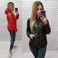 Куртка арт. 185 двухсторонняя черный с красным / черная + красная