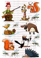"""Вафельная картинка """"Охота и рыбалка""""  - 1"""