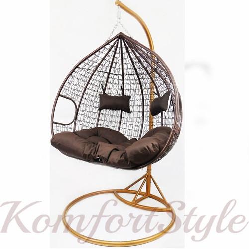 Подвесное кресло-качалка кокон B-183E (коричневое) (46000007)